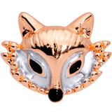 16 Gauge 5/16 Rose Gold Tone Fashion Fox Labret Monroe Tragus