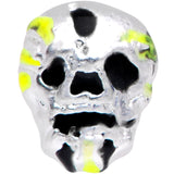 20 Gauge 1/4 Black Striped Skull Halloween Nose Bone