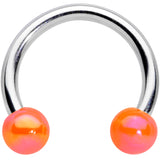 16 Gauge 5/16 Orange Ball Ends Horseshoe Circular Barbell