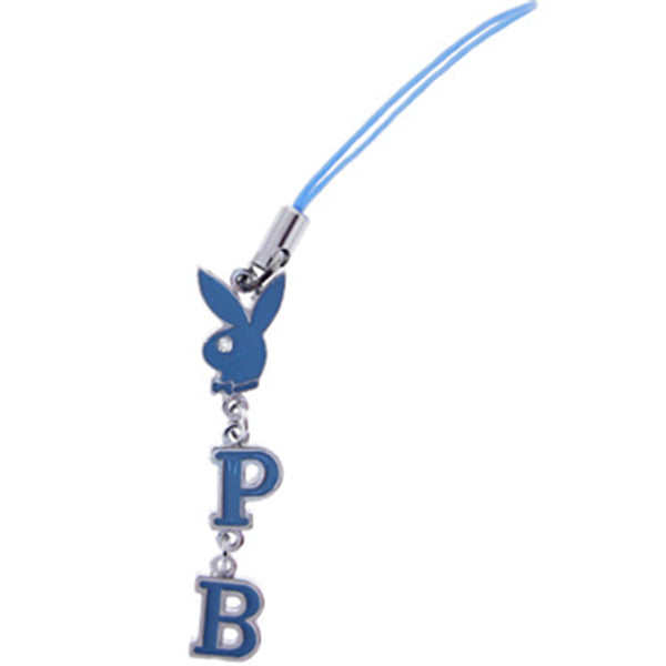 Playboy BABY BLUE Rabbit Head CELL PHONE CHARM