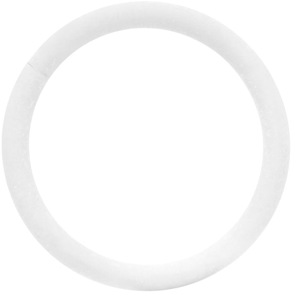 18 Gauge 3/8 White Matte Cartilage Hinged Segment Ring
