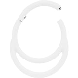 18 Gauge 3/8 White Matte Double Circle Hinged Segment Ring