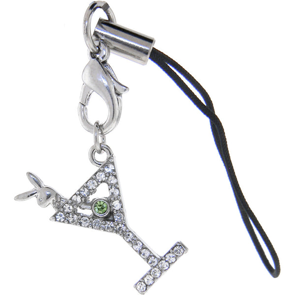 Officially Licensed PLAYBOY Martini Glass Cell Phone Charm