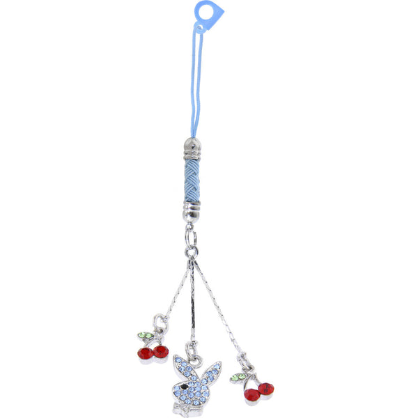 Officially Licensed PLAYBOY Light Blue SWINING CHERRY BUNNY Cell Phone Charm