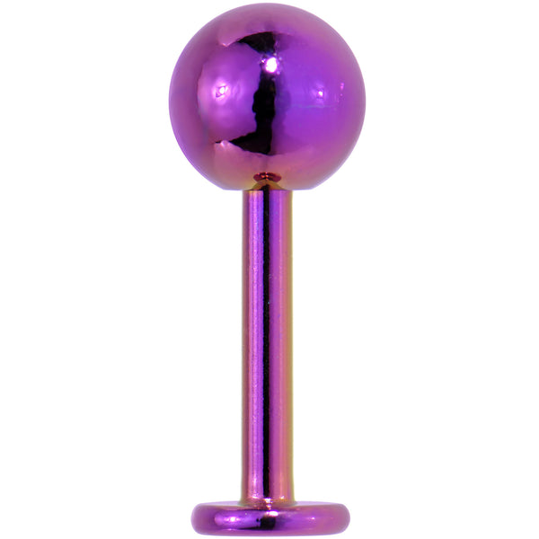 3/8 ELECTRIC PURPLE Titanium Labret Ball Body Jewelry