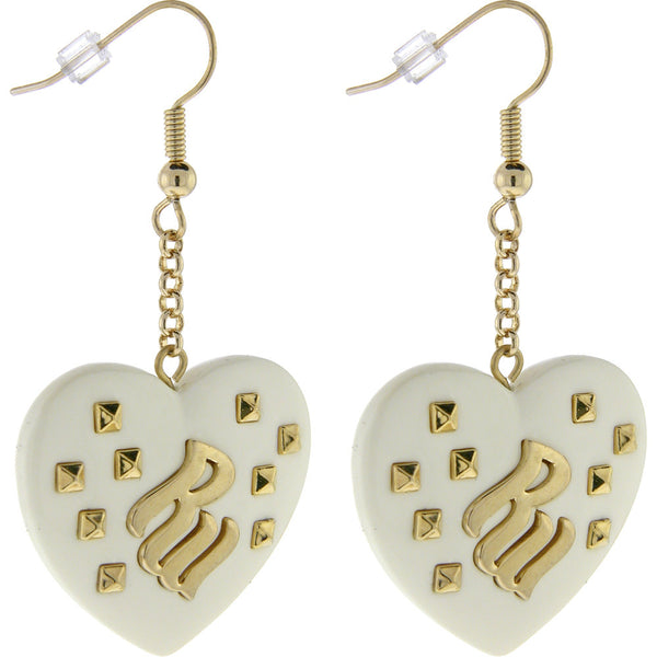 ROCAWEAR La Creme Resin RW Studded HEART Earrings