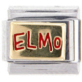 Officially Licensed Sesame Street Italian Charms - ELMO NAME PLATE
