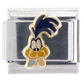 Officially Licensed LOONEY TUNES Italian Charms - Road Runner Sticking out Tongue