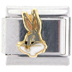 Officially Licensed LOONEY TUNES Italian Charms - Bugs Bunny