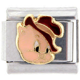 Officially Licensed LOONEY TUNES Italian Charms - Porky Pig