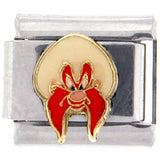 Officially Licensed LOONEY TUNES Italian Charms - Yosemite Sam - Front View