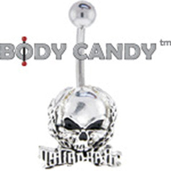 Radical Halo Scary Skull Belly Ring