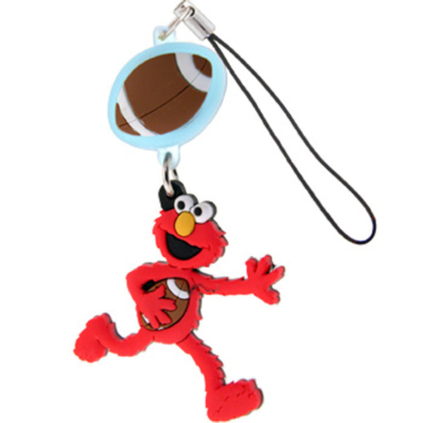 Licensed ELMO with FLASHING FOOTBALL Cell Phone Charm