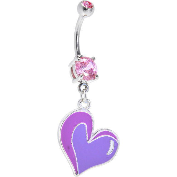 Genuine Artisan Pinkish HEART CHARM Belly Ring