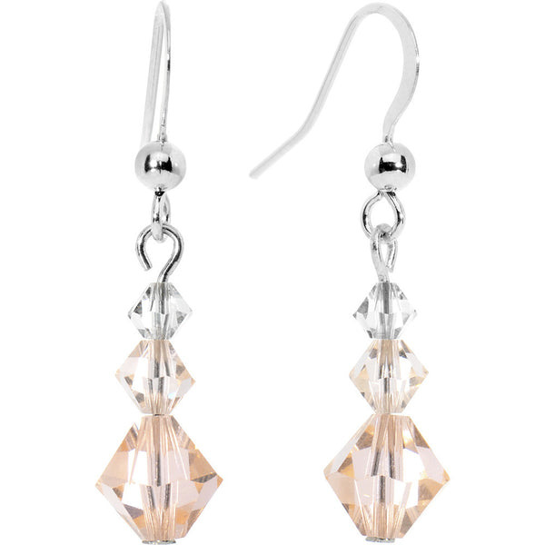 Light Peach Crystal Dangle Earring Created with Swarovski Crystals