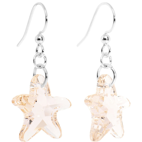 Peach Starfish Crystal Created with Swarovski Crystals