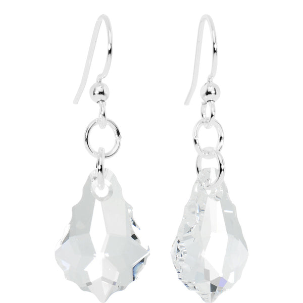 Clear Crystal Baroque Dangle Earrings Created with Swarovski Crystals
