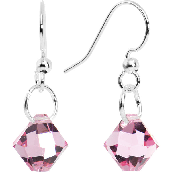 Light Rose Crystal Dangle Earrings Created with Swarovski Crystals