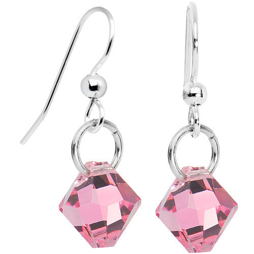 Rose Crystal Dangle Earrings Created with Swarovski Crystals