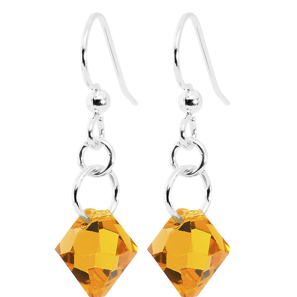 Topaz Crystal Dangle Earrings Created with Swarovski Crystals