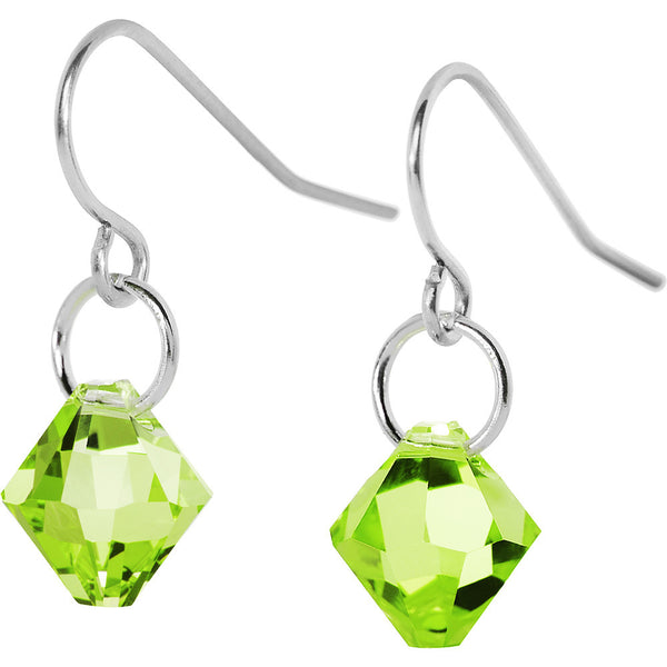 Peridot Perfection Crystal Dangle Earrings Created with Swarovski Crystals