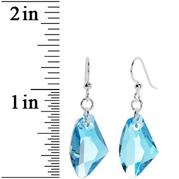 Aqua Galactic Crystal Dangle Earrings Created with Swarovski Crystals
