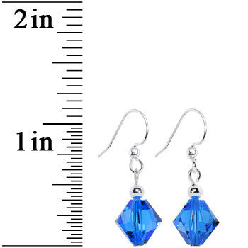 Sapphire Sophistication Crystal Dangle Earrings Created with Swarovski Crystals