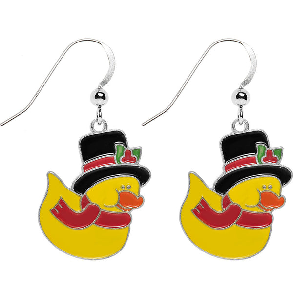 Holiday Best Rubber Duck Earrings