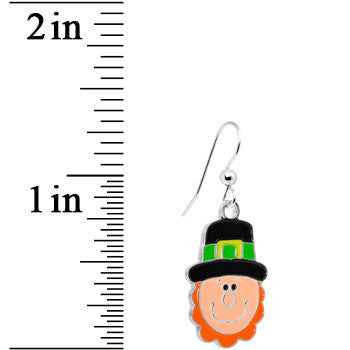 Smiling Leprechaun Dangle Earrings
