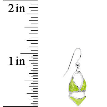 Little Green Bikini Dangle Earrings