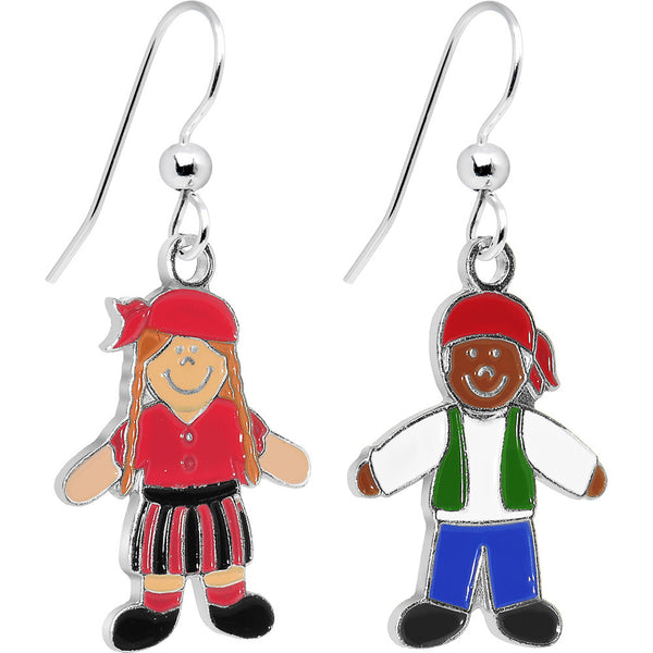 Treasure Hunters Male and Female Dangle Earrings