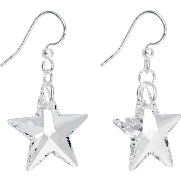 Crystal Star Dangle Earrings Created with Swarovski Crystals