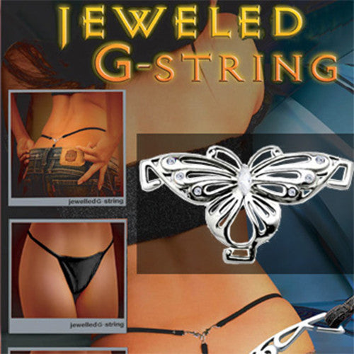 Butterfly Jeweled G String Bikini Underwear