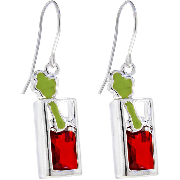 Sterling Silver BLOODY MARY Cubic Zirconia Earrings