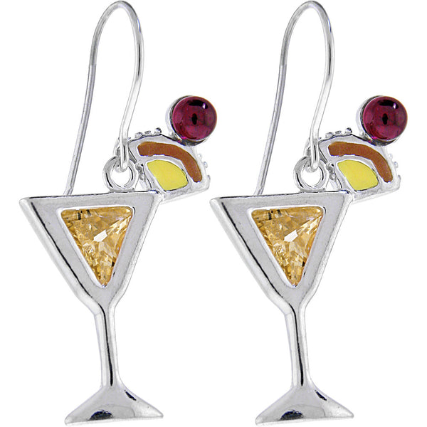 Sterling Silver MAI TAI Cubic Zirconia Earrings