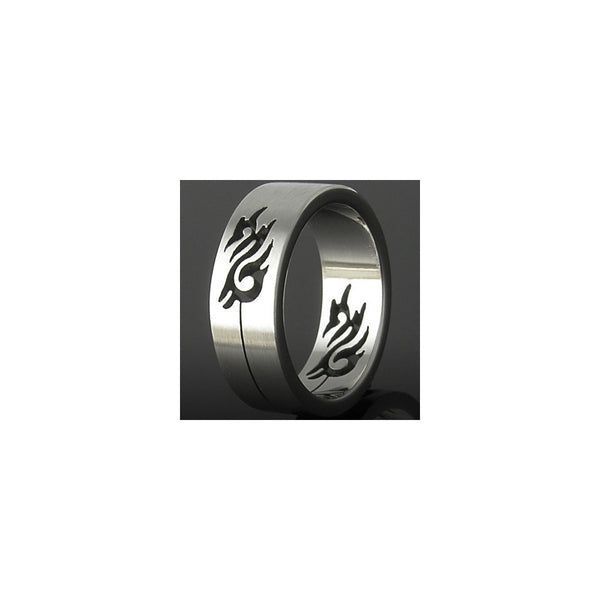 316L Stainless Steel Ring TRIBAL DRAGON