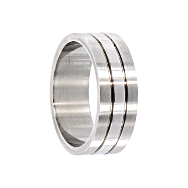 316L Stainless Steel Ring RIBBED Design No2