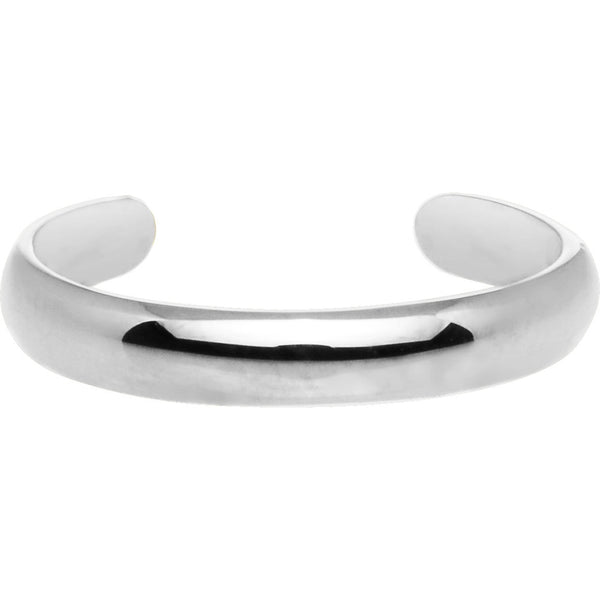 Solid 14kt White Gold Band Toe Ring