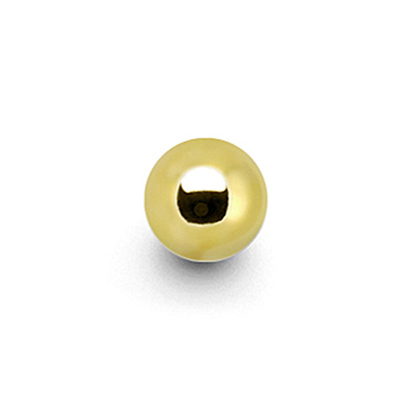 Solid 14KT Yellow Gold Replacement Ball 3mm - 16 Gauge