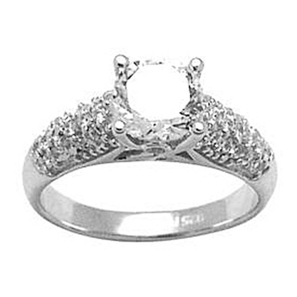 Sterling Silver Round Cubic Zirconia Ring -1.50 ct tw