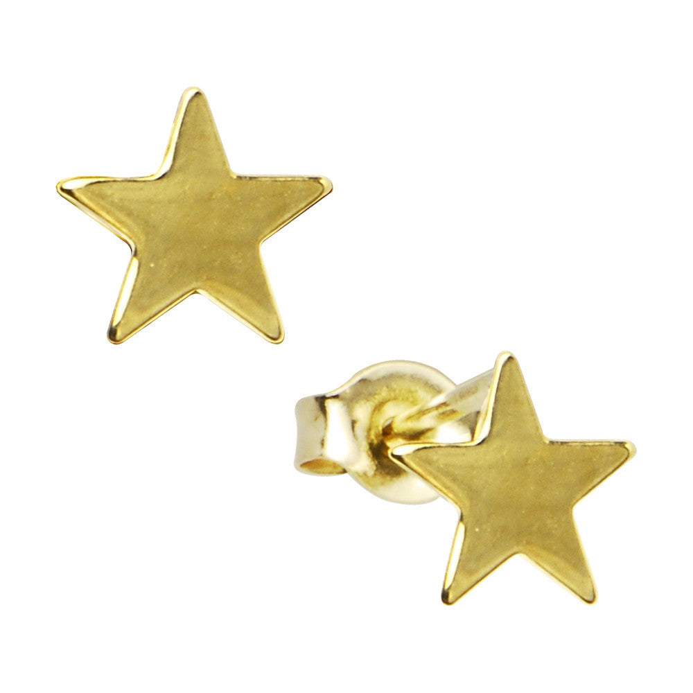 32173c1ae 14kt Yellow Gold Star Stud Earrings – BodyCandy