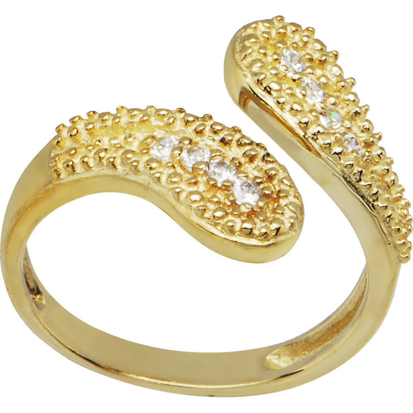 10K Yellow Gold Cubic Zirconia Wrap Toe Ring