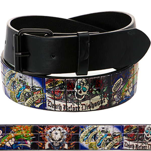 Tattoo Inspiration Studded Death Before Dishonor Belt