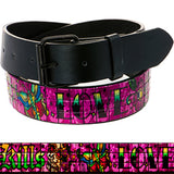 Tattoo Inspiration Studded Hot Pink Love Belt