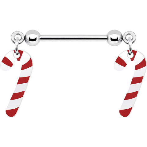 Candy Cane Nipple Ring Set