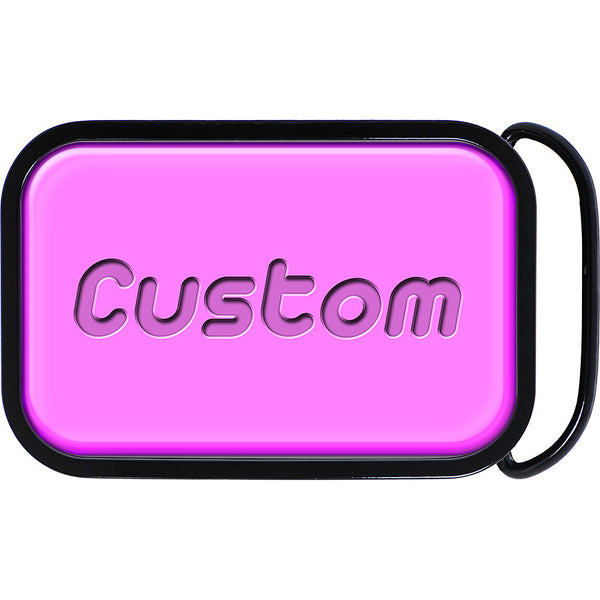 Custom Full TICKLED PINK Color Personalized Belt Buckle