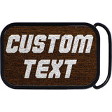 Custom Square Real Wood Silver Personalized Text Belt Buckle