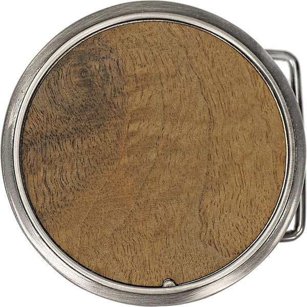 Walnut Burl Circle Belt Buckle