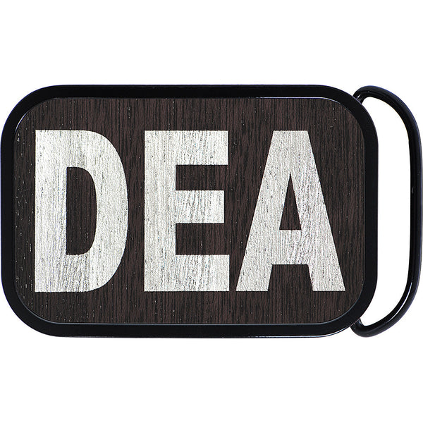 Real Wood Silver DEA Belt Buckle