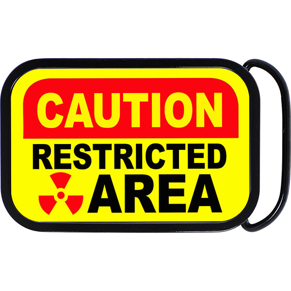 Restricted Area Caution Belt Buckle